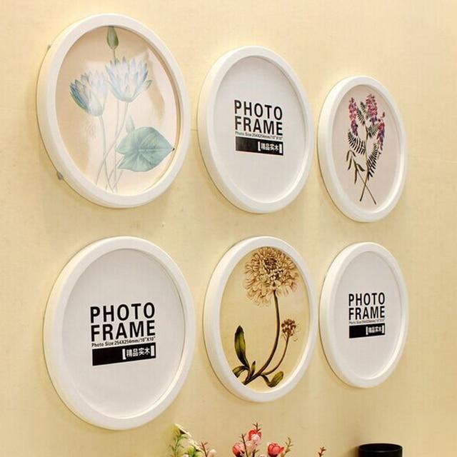 Modern circular photo frame Creative wall combined round frame Wall ...