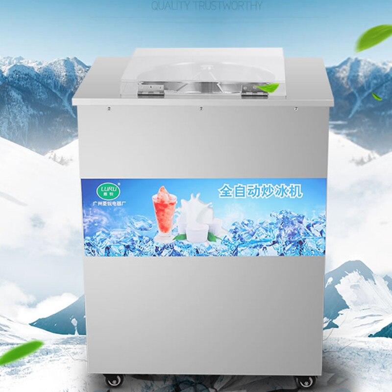 Machine automatique de crème glacée frite de casserole simple de R22 machine molle de crème glacée, machine frite de glace, machine de yaourt de friture,