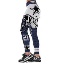 Unisex Dallas Cowboys Logo Fitness font b Leggings b font Elastic Fiber Hiphop Party Cheerleader Rooter
