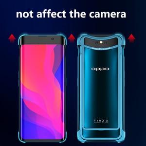 Image 5 - OATSBASF Luxury Metal Frame Shape Shockproof Case For OPPO Find X Protect Case Push pull design Back Phone Cover Case Bumper