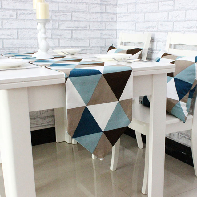 Simple Modern Geometric Dining Table Runner Placemats Upscale Fabric Coffee  Table Flag Bed Runner