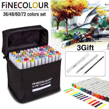 FINECOLOUR 72 Colors Art Markers Alcohol Based Markers Drawing Pen Set Manga Dual Headed Art Sketch Marker Design Pens - DISCOUNT ITEM  19 OFF Education & Office Supplies