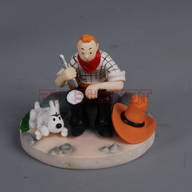 The Adventrues of Tintin Japanese Action Anime Resin-poly Figure -Tintin Picnic (Resin Statue)  (Pre-painted /GK)