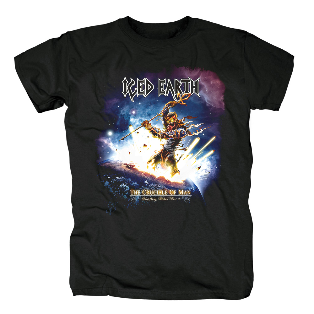 Bloodhoof Iced Earth Album cover power metal heavy metal thrash metal cotton new T-SHIRT Asian Size image