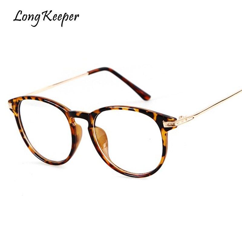 100% Wahr Lange Keeper Frauen Brillen Rahmen Kleine Mode Leopard Klassen Rahmen Männer Oval Computer Plain Gafas De Grau Femininos
