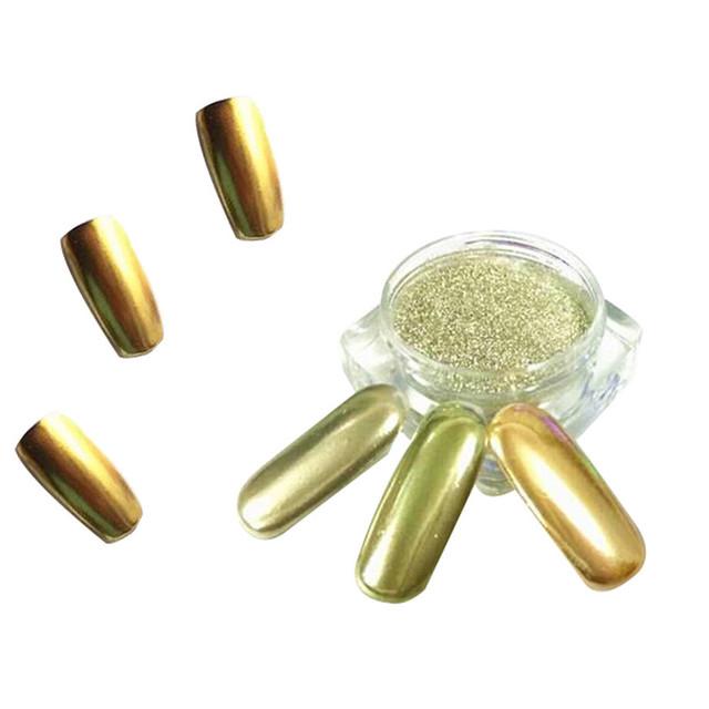 New 1g Mirror Powder Gold Silver Pigment Nail Glitter Nail Art Chrome Effect Magic Mirror Powder For Nail Polish Nail Accesories