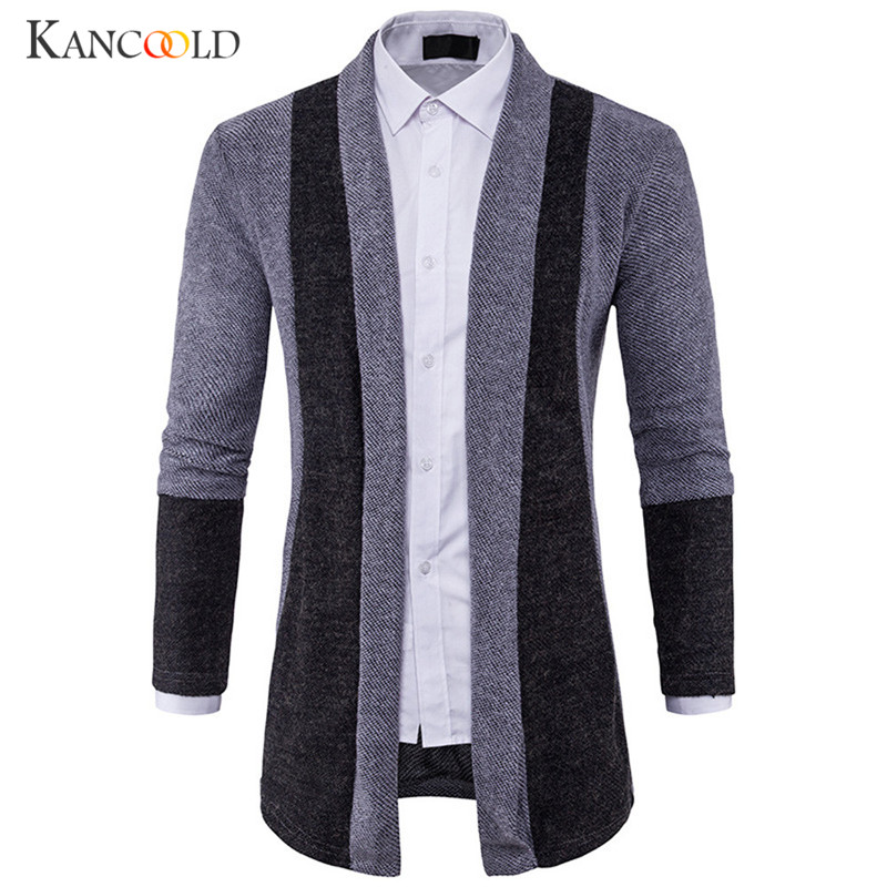 Reliable Winter Men Slim Coat Jacket Overcoat Jackets Cotton Cardigan For Male Autumn Cardigan Long Trench Patchwork Long Overcoat Oc10b Trench