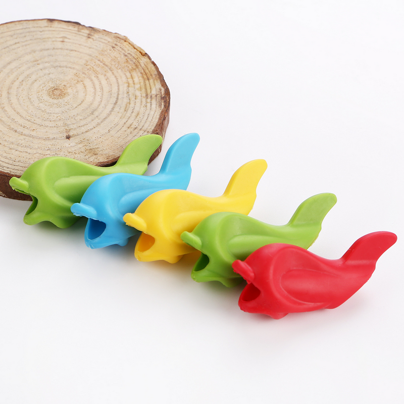10 Pcs Children Pencil Holder Writing Hold Pen Grip Posture Correction Tool Fish Office & School Supplies