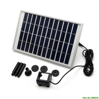 12V/5W Solar Fountain Garden Water Pump For Landscape Pool Maximum Flow 380L/h Solar Fountain Pump