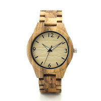 2016 New Date Original Dail Zebra Stripe Wood Watch Mens Quartz WatchesTop Brand Luxury Clock With