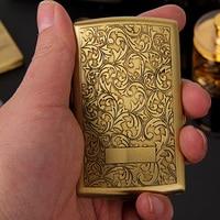 Twelve Ultra thin Portable Metal Pure Copper Tangcao Personal Male Cigarette Jacket Cigarette Boxes