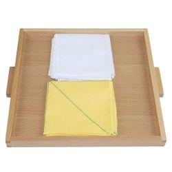 Przedszkole Montessori sensoryczna pomoce codziennego życia dzieci zabawki edukacyjne tkaniny Folder składane pudełko