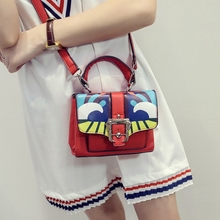 2016 Top Silt Pocket Single Velcro Flap Solid Women Bag Printing And Sell Like Hot Cakes For Graffiti Shoulder Messenger Clutch