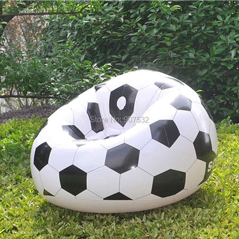 SINGLE INFLATABLE CHAIR SOFA BLOW UP FOOTBALL SEAT GAMING POD