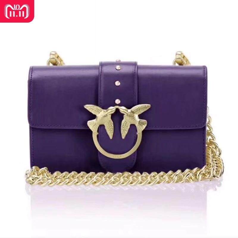 2018 Winter Newest Fashion swallow lock messenger bag luxury famous brand style bags women handbag genuine