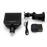 Draagbare Hd 3 .6MP Ccd Pixel 4.3 Inch Oled-scherm Lcd Digitale Microscoop Zoom 1-600X Vergroting Microscoop Zwart