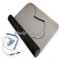送料無料 700*500*2.0 ミリメートル帯電防止マット + アース線 + ESD 手首携帯コンピュータの修復帯電防止毛布、 ESD マット