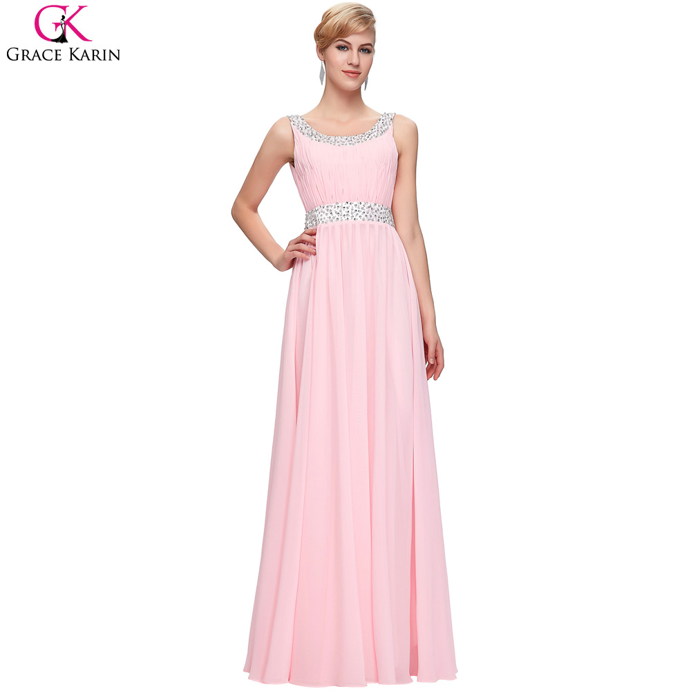 Grace karin mangas pink prom vestidos largos 2017 nueva moda ...