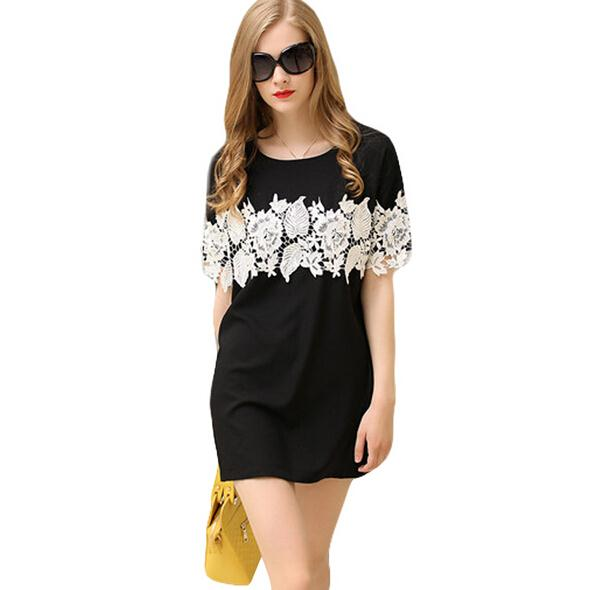 2017 Summer Women Lace Dress Fat Mm Euro Plus Size -1980