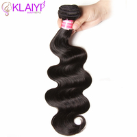 Klaiyi Hair Body Wave Bundles Indian Hair 1 Piece 100 gram Human Hair Weave Natural Color Extension Remy Hair