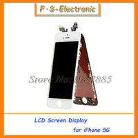 Free Shipping 100 Guarantee For IPhone 5 5G LCD Display Touch Screen Digitizer Frame Assembly White
