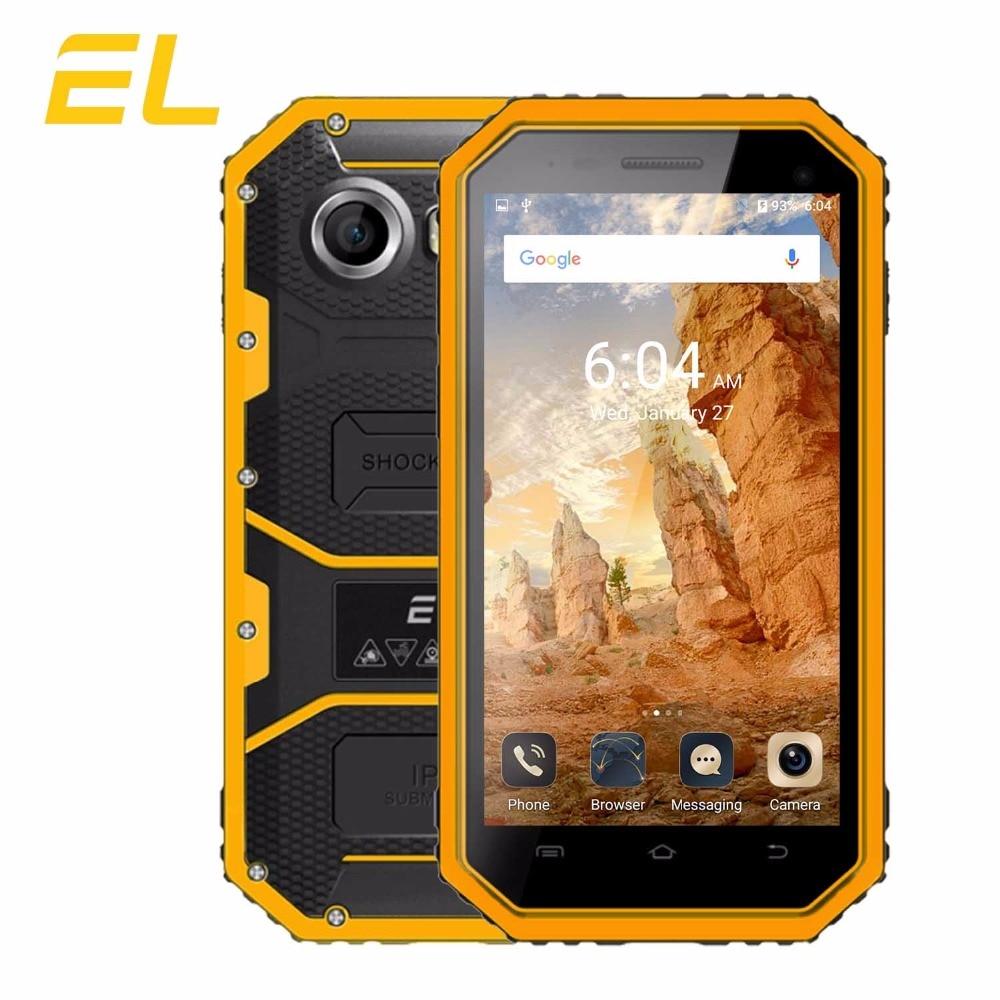 Original EL W6 Rugged Mobile Phone IP68 Waterproof Cell phone 4 5 Inches 8GB ROM 1GB