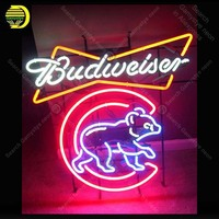 Budweise Neon Sign Neon Bulbs Sign Bear Handcrafted Glass Tube signboard Neon Light Sign enseigne lumineuse neon art for sale