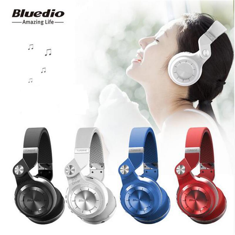 D'origine Bluedio T2 + sans fil casque pliable bluetooth écouteurs bluetooth4.1 soutien radio FM et carte SD fonctions pour la musique