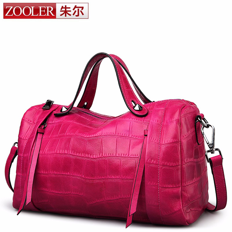 ZOOLER Designer Genuine Leather Bags Ladies Famous Brand Women Handbags High Quality Tote Bag for Women Fashion Hobos Bolsos sac zooler fashion chains high quality genuine leather bags handbags women famous brand ladies cowhide messenger shoulder bag bolsas
