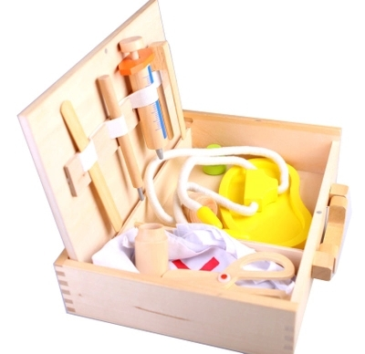 German   wooden medicine box / educational toys / Children's medicine cabinet / wooden box toy