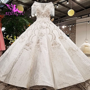 Image 3 - AIJINGYU Wedding Simple Dress Gypsy Style Gowns 2021 Big Size engagement Princess Train Custom Gown Alternative Wedding Dresses