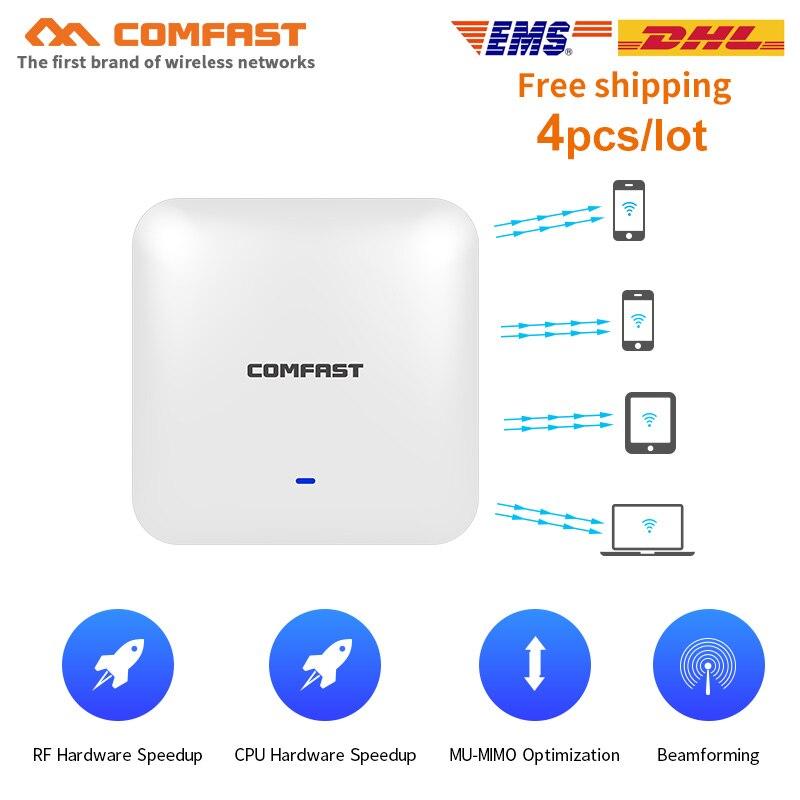 4 pièces Haute Puissance 2200 Mbps Gigabit Ehernet Ports Double Bande 2.4G + 5.8 Ghz Signal Fort routeur Wifi sans fil Point D'accès plafond AP