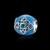 Real sólido 925 sterling silver azul do esmalte de cristal encantos para fazer jóias esterlina-prata-jóias fit pandora pulseira gtp125