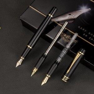 Image 5 - Hoge Kwaliteit Drie Pen Set Geschenkdoos 0.5Mm En 1.0Mm Iraurita Fontein Roller Pen Volledig Metalen 1047