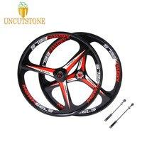 3 spokes wheels 26 mountain bike wheel Cassette 8/9/10 Speeds magnesium alloy Bicycle Wheel bike rims with Disc Brake