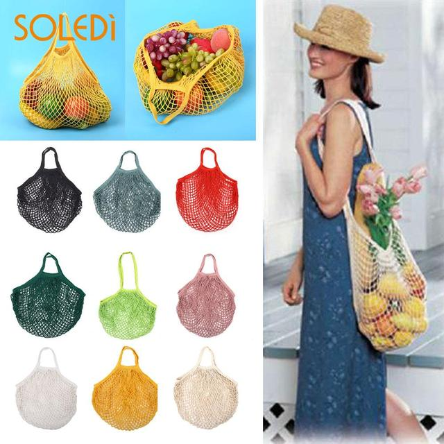 Shoping Mesh Bag Knitted Cotton Tote Shopping String Grocery Shopper Net Bag