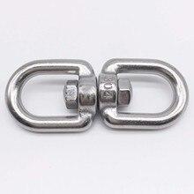 Wkooa M6 Eye to Eye Swivel 304 Stainless Steel Silver Tone