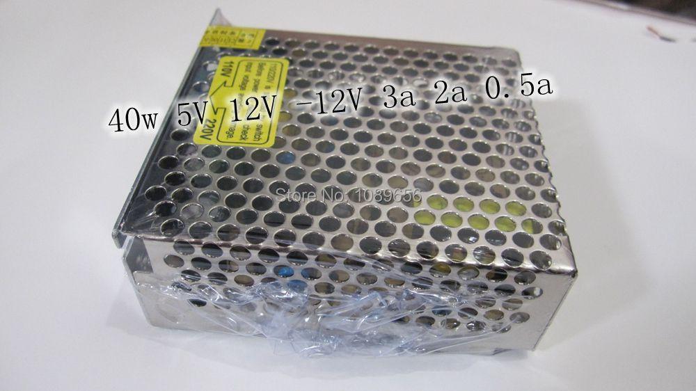 3 Outputs AC//DC Power Supply 41.5W 5V//12V//-5V@5A//3A//1A T-40A