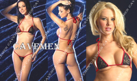 Red edge Lace * 2225 *Ladies Thongs G string Underwear Panties Briefs T back Swimsuit Bikini Free Shipping