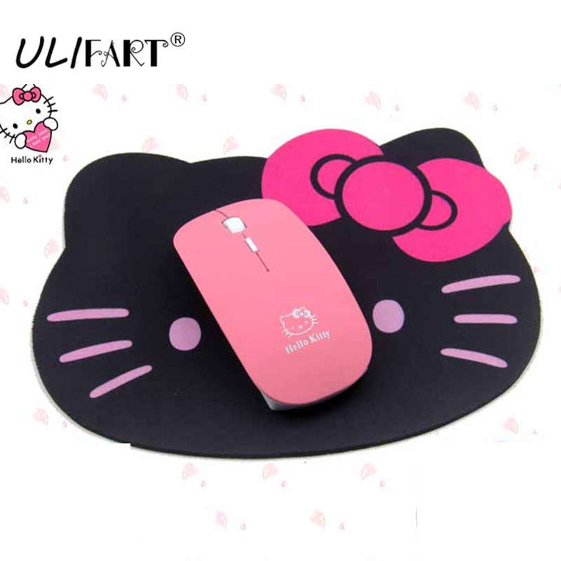 ULIFART New Wireless Mouse 2.4G USB Receiver Cute Lovely Kitty Computer Mouses Cordless  ...