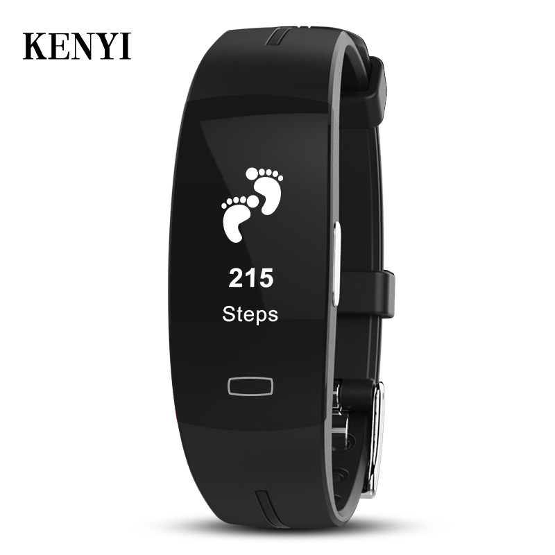 KENYI blood pressure wrist band heart rate monitor PPG ECG smart bracelet Activit fitness tracker intelligent wristband K3-in Smart Wristbands from Consumer Electronics    1