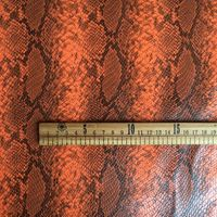 synthetic PU imitate Python faux snake skin leather fabric raw material Y004