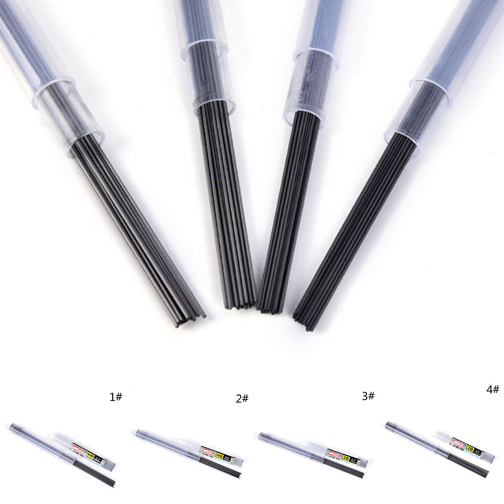 New 2Pcs 2B/HB 0.5 Mm / 0.7 Mm Pencil Lead A Refill Tube Automatic Pencil Lead Style For School Or Office Use Length: 110mm