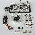 Для intel 115X AMD компьютерных ПРОЦЕССОРЫ видеокарты СВЕТОДИОДНЫЕ воды охлаждения cooler mute радиатор водяной бак Регулируемая скорость насоса вентиляторы комплекты
