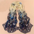 Wholesale Women's Floral Scarves Chiffon Flowers Printed Scarf Size62.8*19.6""
