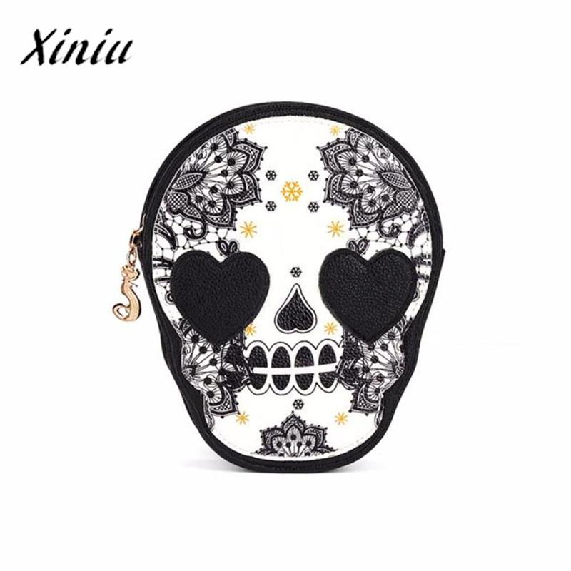 Black Skull Messenger Bag Shoulder Handbag Clutch Hobo Beach Bag Bags Bolsa Feminina Designer Handbags High Quality
