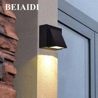 BEIAIDI 6W Aluminum Outdoor LED Wall Lamp IP65 Waterproof Garden Balcony Porch Wall Lamp Corridor Fence