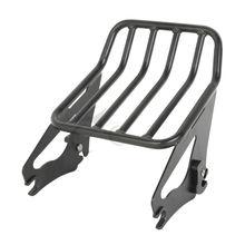 Motor Black Detachable 2-Up Luggage Rack For Harley FLHX FLTR FLTRX FLHXSE 09-15
