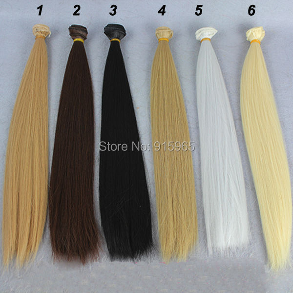 6pieces/lot Wig refires bjd hair 35cm*100CM black brown grey flaxen golden color wig hair for 1/3 1/4 BJD DIY