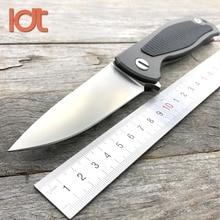 LDT Fiber De Carbone F95 Pliant Couteau S35VN Lame Couteau TC4 Titane Poignée Couteaux Tactiques Roulement À Billes Survie Couteau Outils EDC